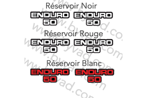 Deux stickers ENDURO 50
