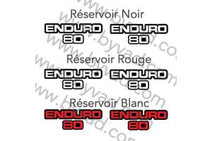 Deux stickers ENDURO 80