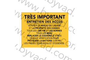 Sticker Renault Entretien des accus