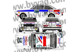 Kit déco Ford Escort Lombard Rallye 77