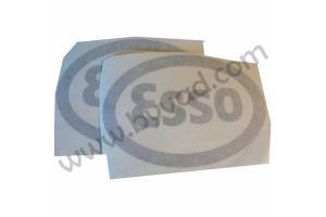 Kit 2 stickers ESSO monochrome