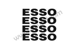 Kit 4 stickers ESSO