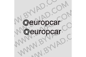 2 Autocollants europcar