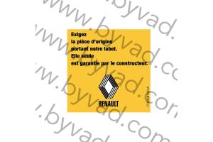 Sticker Renault exigez la pièce d'origine