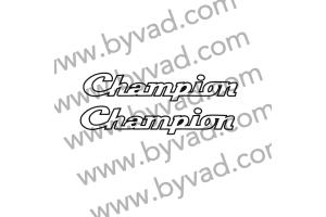 2 stickers CHAMPION Gitane Testi