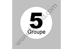 2 Stickers Groupe 5