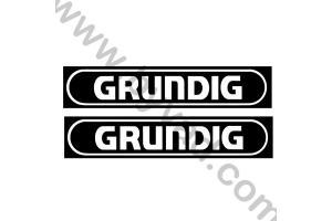 2 Stickers GRUNDIG