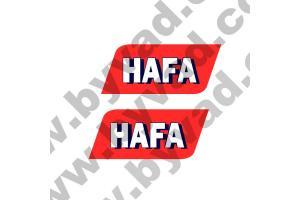 2 Stickers HAFA