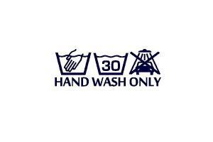 Sticker Hand wash only