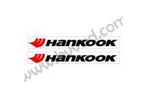 2 Stickers Hankook avec fond