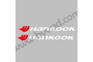 2 Stickers Hankook sans fond