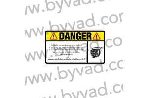 Sticker danger turbo
