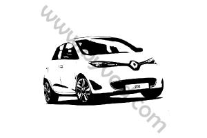Sticker Renault Zoe