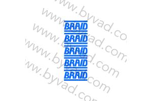 Kit 5 stickers de jante BRAID