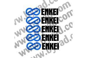 Kit 5 stickers de jante ENKEI