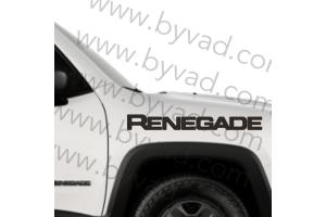 Deux autocollants Jeep Renegade