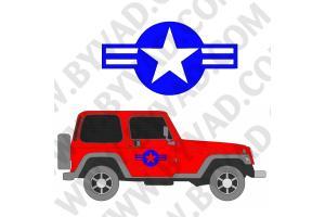 2 Sticker US ARMY