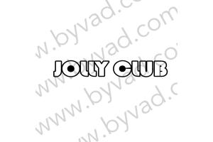 2 Stickers Jolly Club avec rebord