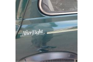 Kit 3 stickers Austin mini After Eight + liseret
