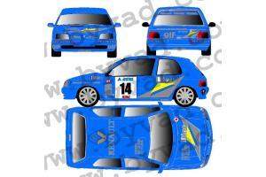 Kit déco Clio Diac - Touquet 1994 - Jordan _ Boyere