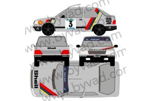 Kit déco Peugeot 309 Patrick Vernet 1992