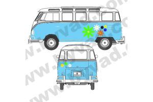 Kit stickers Fleurs VW Combi