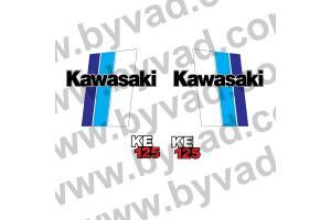Kit stickers Kawasaki 125 KE