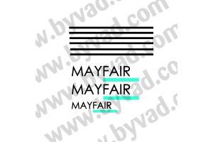 Kit 3 stickers Austin mini Mayfair + liseret