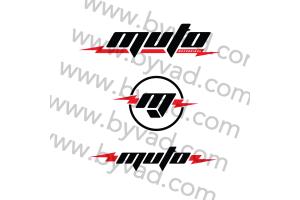 Kit de 3 autocollants MUTO Motorbikes