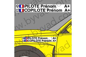 Lettrage avec fond Pilote Copilote 03
