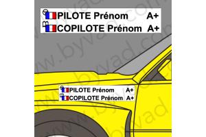 Lettrage avec fond Pilote Copilote 05