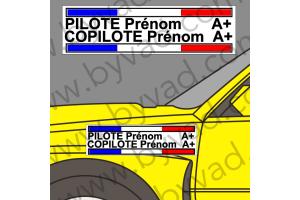 Lettrage avec fond Pilote Copilote 06
