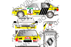 Kit déco R11 Turbo Jean Ragnotti Portugal 1987