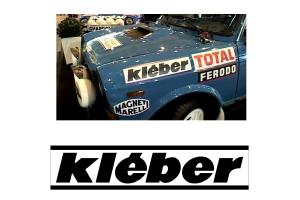2 Stickers Kleber année 80
