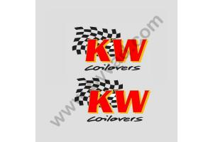 2 Stickers KW Suspensions
