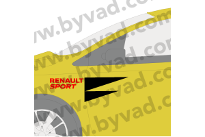 Stickers latéraux style RS18 RENAULT SPORT