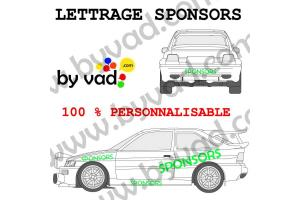 Lettrage sponsors 140 cm