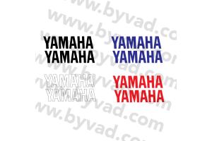 Deux stickers YAMAHA 20 cm