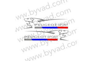 2 Stickers Peugeot Sport Lion 2016