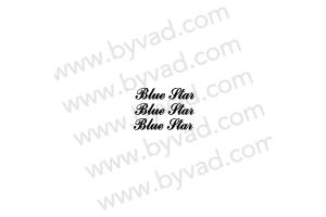 Kit 3 stickers Austin mini Blue Star