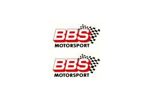 2 Stickers BBS Motorsport