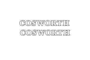 Stickers Cosworth Evidés x 2