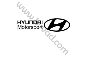 Deux stickers Hyundai Motorsport