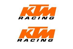2 Stickers KTM Racing