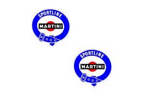 Kit 2 sticker Martini Sportline 25 cm