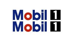 Kit deux stickers 'MOBIL 1' 75 cm