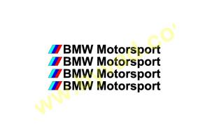 Kit de 4 Stickers BMW Motorsport