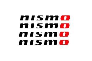 Kit 4 stickers Nismo modèle 2