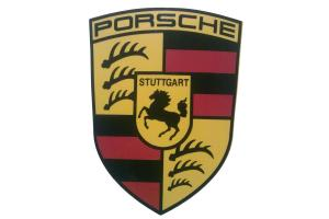 Kit deux stickers Logo Porsche Vintage