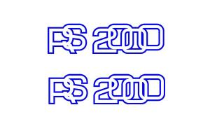 Stickers RS2000 Vintage x 2